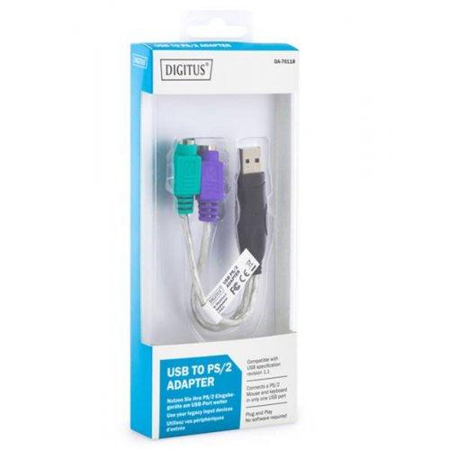 Αντάπτορας USB A αρσενικό -> 2 χ PS2 θηλυκά για ποντίκι και πληκτρολόγιο DIN6F CCGP60830BK03 Nedis