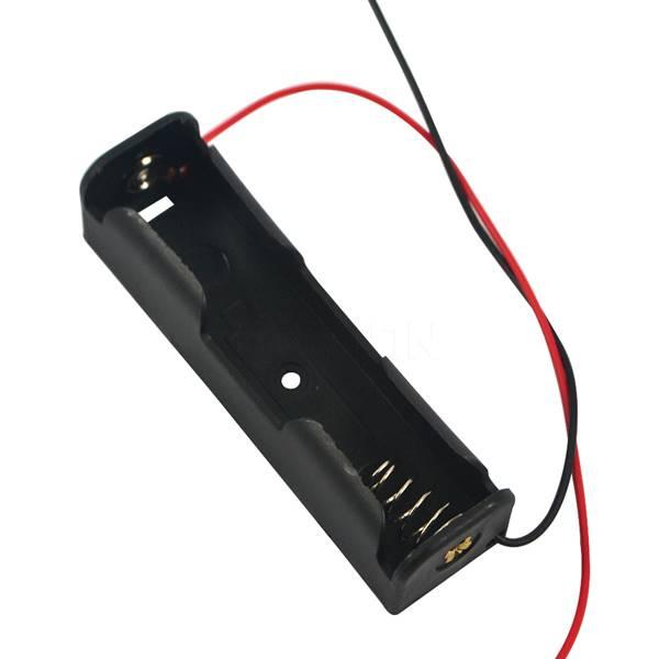 Μπαταριοθήκη για 1 x 18650 μπαταρία 3.7V halter με καλώδιο Wentronic