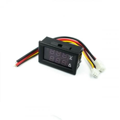 Βολτόμετρο Ψηφιακό 0-100V DC / Αμπερόμετρο 0-50A DC 45x26x21mm VAM-0-100V DC/0-50A DC
