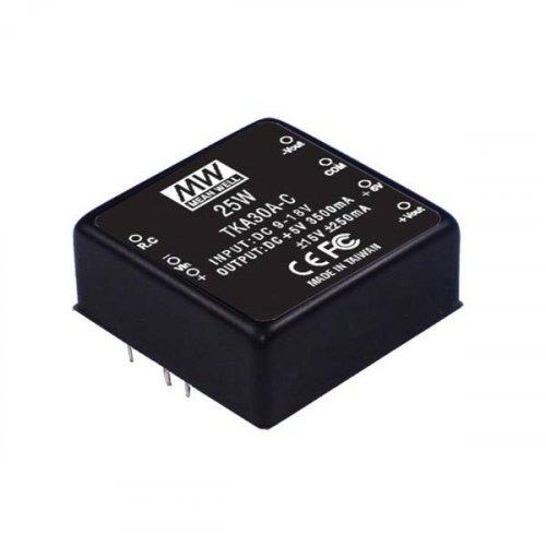 Converter 18-36v in -> 3 out +5v +/-15v 25W Pcb TKA30B-C Mean well