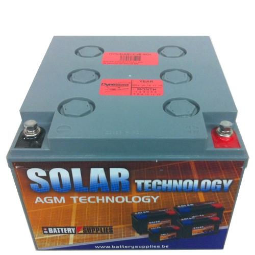 Μπαταρία 12V 26Ah μολύβδου solar βαθιάς εκφόρτισης DAB12-26Sol Dyno Europe