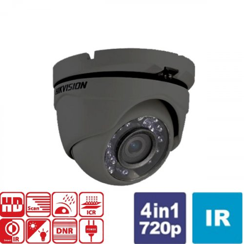 Κάμερα Dome IR 2,8mm IP66 Turbo-HD 720p Γκρί DS-2CE56C0T-IRMF Hikvision