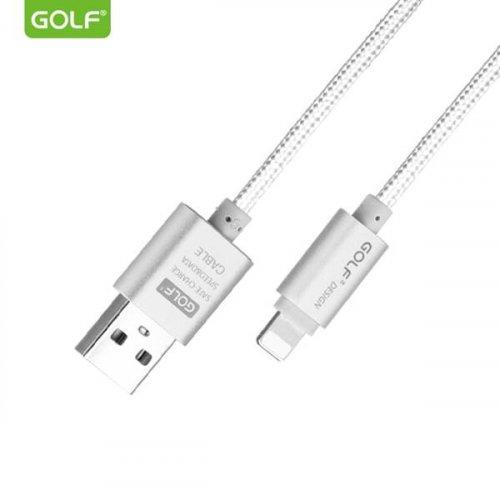 Καλώδιο φόρτισης & συχρονισμού USB A -> iphone 1m 2.1A ασημί GC-10i GOLF
