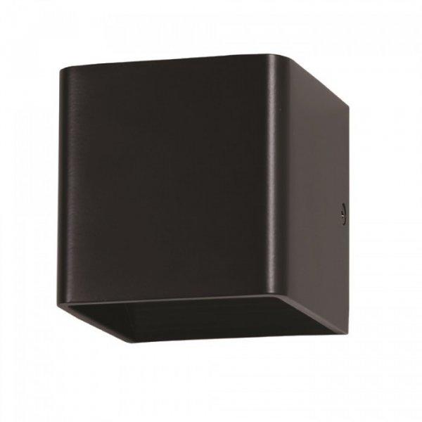 Led φωτιστικό τοίχου 5W 240V 120° warm white 3000K μαύρο 7084 VT-758 V-TAC