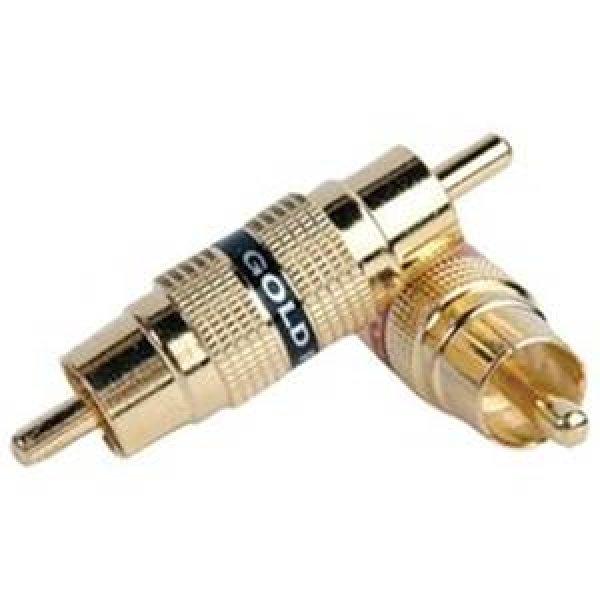 Αντάπτορας RCA Αρσενικό -> RCA Αρσενικό GOLD Μαύρο RA310G