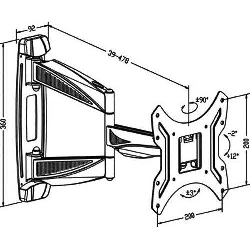 Βάση LCD 32'-  55'' PSW841S + ADP06 Loctek