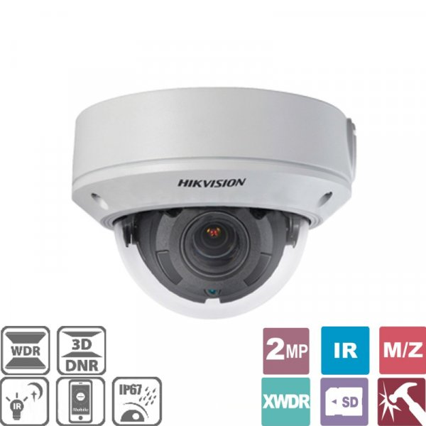 Κάμερα Dome 2.8~12mm IP IP67 1080p DS-2CD1721FWD-IZ Hikvision