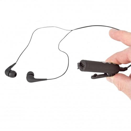 Αντάπτορας bluetooth headset retractable μαύρο 3,5mm BTHSRCVR100 Sweex