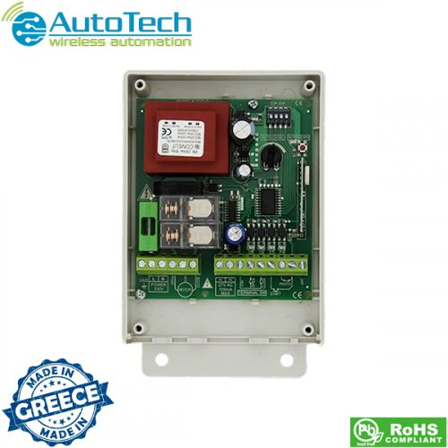 Πλακέτα τηλεχειρισμού ρολλών- συρόμενης γκαραζόπορτας 433,92 Mhz R2010D AUTOTECH