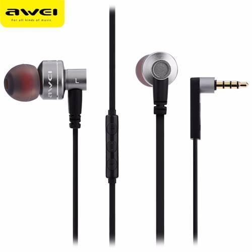 Ακουστικά Στερεοφωνικά Handsfree με Μικρόφωνο Μαύρο ES-10TY Awei
