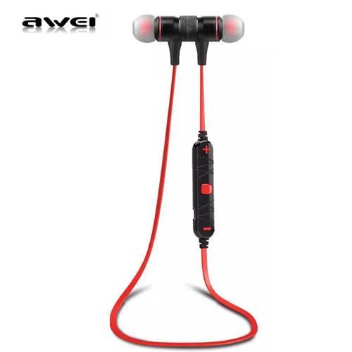 Ακουστικό bluetooth In-Ear Magnetic Lock μαύρο A920BL AWEi