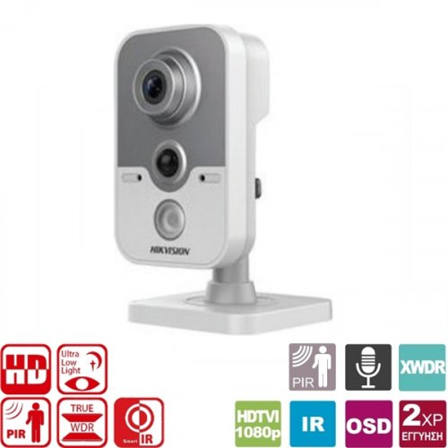 Κάμερα Cube 2.8mm IP 2MP DS-2CE38D8T-PIR Hikvision