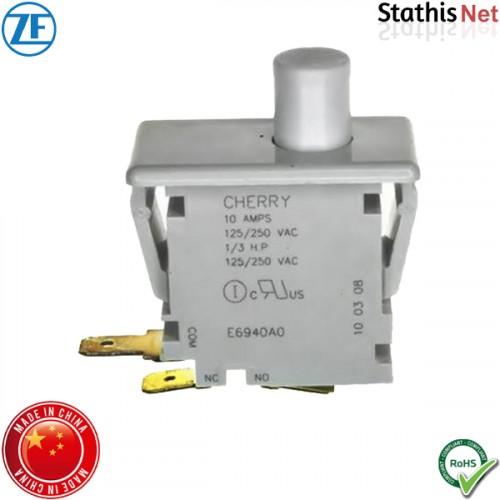 Διακόπτης μπουτόν push ΟΝ-OFF 10A 250V 3P SPDT E69-40A άσπρος χωρίς λυχνία Cherry