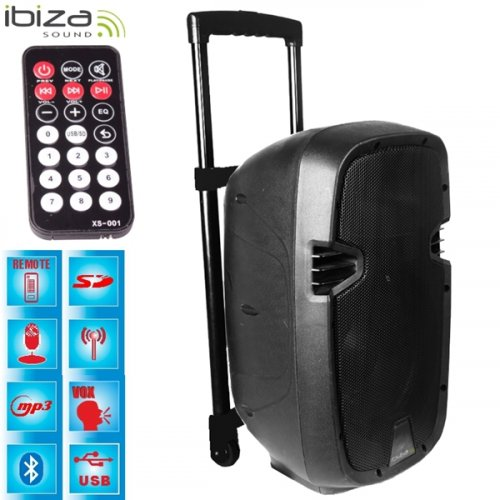 Αυτόνομο Σύστημα Ηχου Bluetooth 700W HYBRID15VHF-BT Ibiza Sound