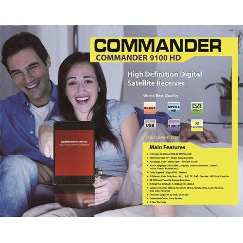 Δέκτης DVB-S2 HD 9100 IR Commander