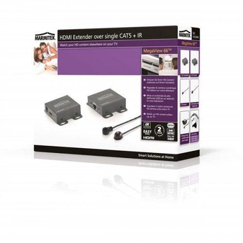 Remote Extender MegaView 66 - HDMI +RC Μέσω Μονού CAT5/6  Marmitek