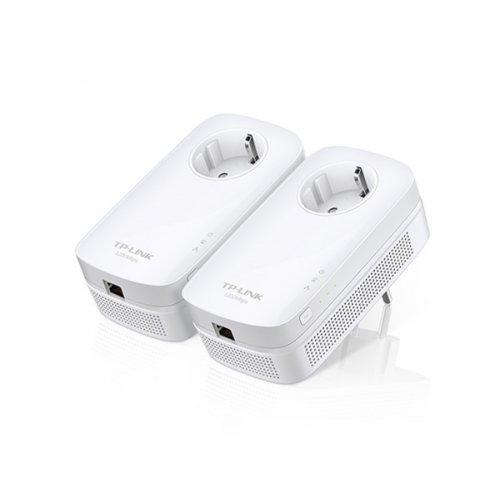 Powerline Adapter AV1200 Gigabit +Ενσωματωμένη Πρίζα Starter Kit TL-PA8010P KIT TP-LINK