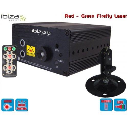 Laser εφέ Firefly πράσινο & κόκκινο χρώμα LAS160P-MKII Ibiza Light