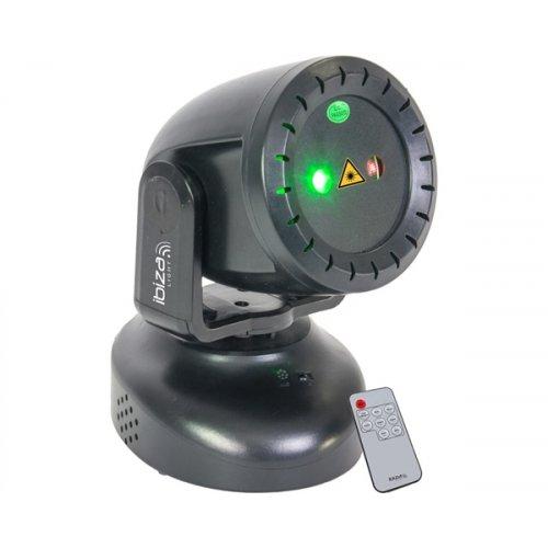 Laser περιστρεφόμενο πράσινο & κόκκινο χρώμα TWIRLY-LZR Ibiza Light