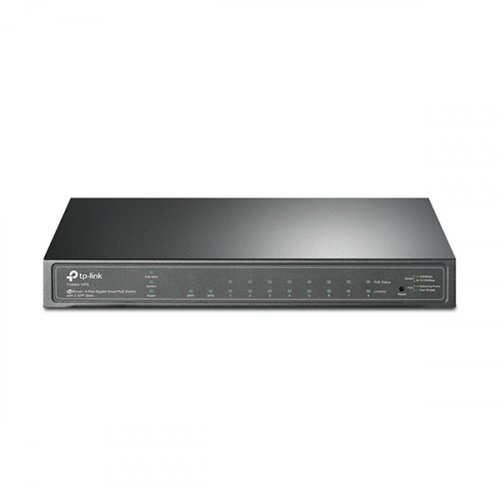 Switch 8-Port Gigabit Smart PoE 2xSFP Slots TL-SG2210P (T1500G-10PS) JetStream TP-LINK