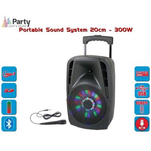 Αυτόνομο Σύστημα Ηχου Bluetooth 300W PARTY-8LED