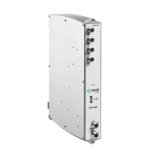 Transmodulator DVB-S/S2, DVB-T/T2, DVB-C -> DVB-T/C 4X4 FREE HTI-404 IKUSI