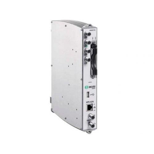 Transmodulator DVB-S/S2, DVB-T/T2, DVB-C -> DVB-T/C/IP 4X4 2 CAM HTI-424 IKUSI
