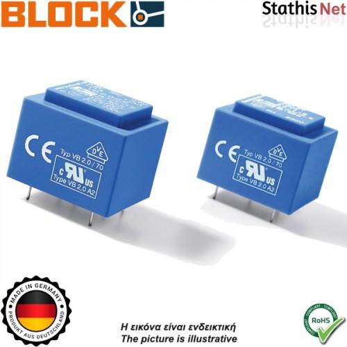 Μετασχηματιστής PCB 1,5VA 2x15V 115v block