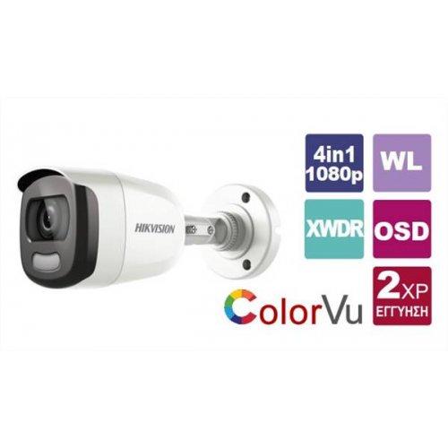 Κάμερα Bullet IR 3,6mm Turbo-HD 1080p ColorVu DS-2CE12DFT-F Hikvision