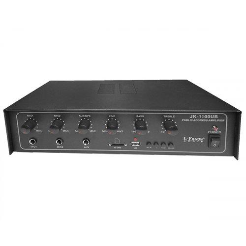 Ενισχυτής μικροφωνικός 12V + 230V 60W 100V  2xMIC/USB PA60M L-Frank