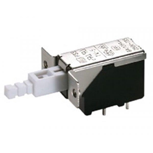 Διακόπτης push on 8A 250v 2pin PCB PS5A-02-Y1-01 Szbej