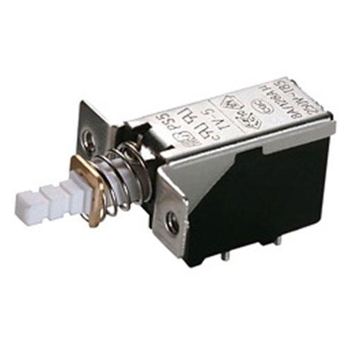 Διακόπτης push on 8A 250v 2pin PCB + Ελατήριο PS5A-02-Y1-01R Szbej