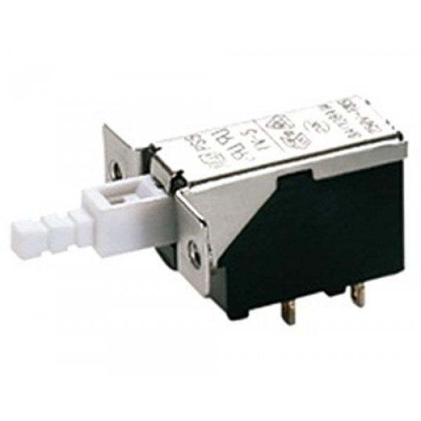 Διακόπτης push on 8A 250v 2pin Solder PS5A-03-Y1-01 Szbej