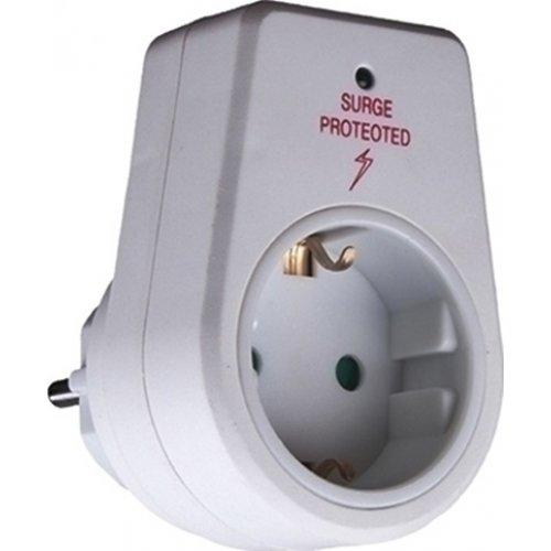 Πρίζα Μονή Με Προστασία Υπέρτασης λευκή KF-GZBD01/01 TELCO