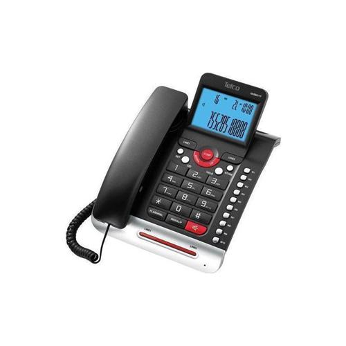Τηλέφωνο ενσύρματο caller ID δίγραμμο μαύρο GCE-6211T Telco