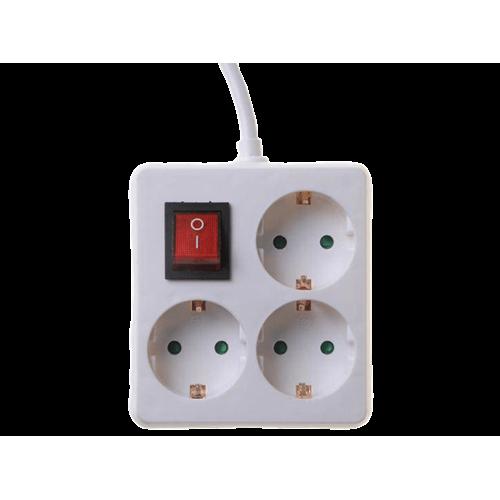 Πολύπριζο 3 σούκο 3x1.5mm 1.5m με διακόπτη KF-B-S03K Telco