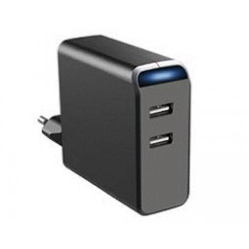 Τροφοδοτικό 230V in -> 2 x USB out 5v 4.8A MW 2UA48U Minwa