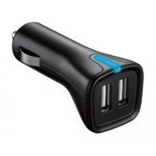 Τροφοδοτικό αυτοκινήτου 12-24V DC in -> 2 x USB out 5V 4,8Α MWDU248 minwa
