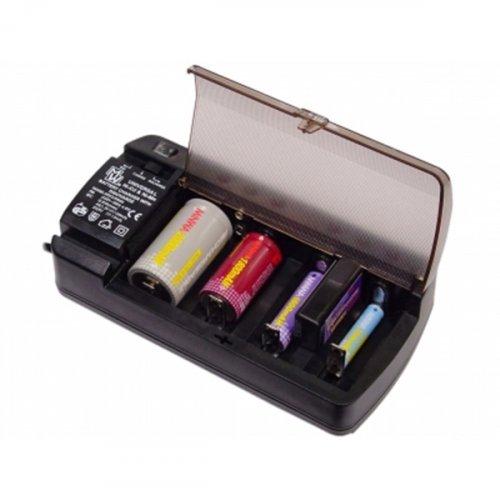Φορτιστής μπαταριών Νi-MH, Ni-CD, AA, AAA, C, D, 1-2 τμχ. 9V MW-3398GS MINWA