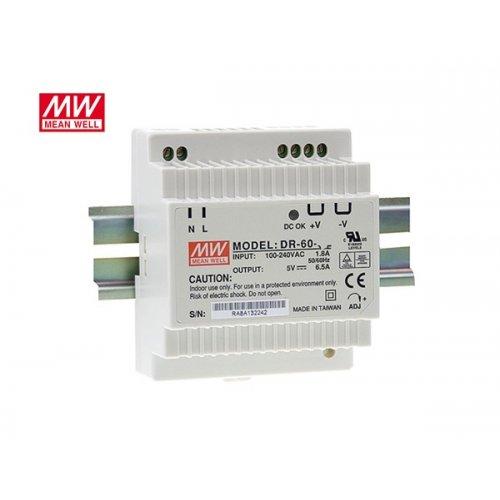 Τροφοδοτικό ράγας 15VDC 60W 4A DR60-15 MEAN WELL