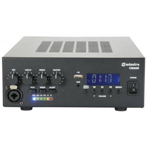 Ενισχυτής μικροφωνικός 12VDC + 230VAC 1x60W 100V 1xMIC/USB/FM/Bluetooth CM60B Adastra