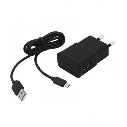 Τροφοδοτικό 230V in-> 1 x USB out 5V 2.1A + καλώδιο micro USB μαύρο V2.0 75-862# Blow