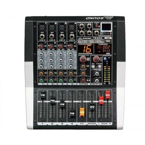 Ενισχυτής μικροφωνικός 2x250W 4xMIC+4 LINE+ Bluetooth TE400 AXD SOUND