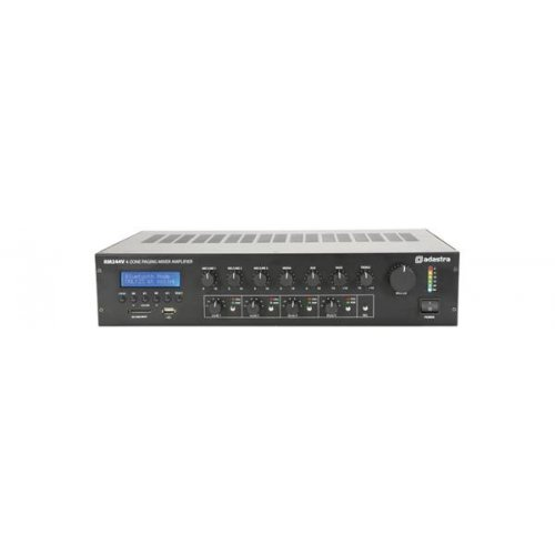 Ενισχυτής μικροφωνικός 230VAC 240W 100V 3xMIC/LINE/USB/FM/Bluetooth RM244V 953.244UK Adastra
