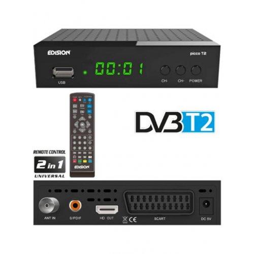 Δέκτης MPEG 4 Επίγειος ψηφιακός Picco T2 Edision HD