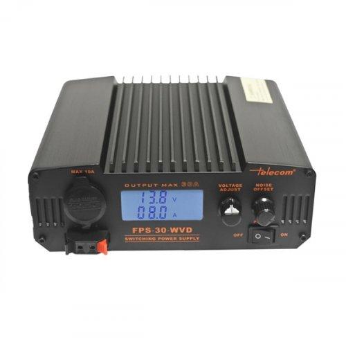 Τροφοδοτικό 230V-> 9-15VDC & 13,8VDC 25A Switching ρυθμιζόμενο πάγκου FPS-30-WVD Telecom
