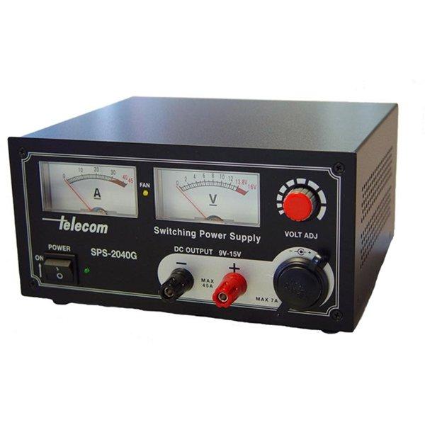 Τροφοδοτικό 230V->9-15V DC 32A switching ρυθμιζόμενο πάγκου SPS-2040G Telecom