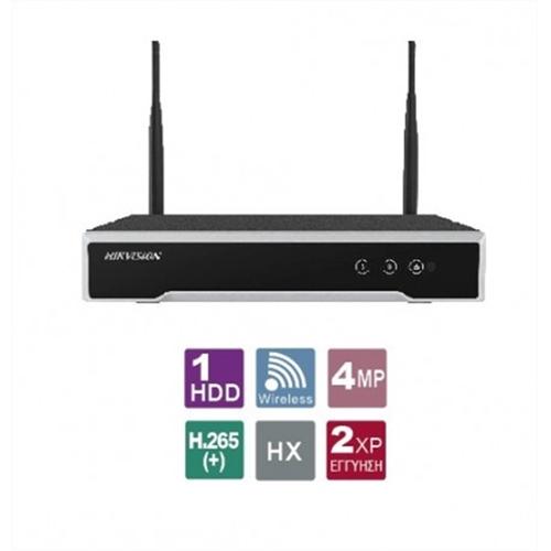 NVR 4 IP καναλιών DS-7104NI-K1/W/M Hikvision