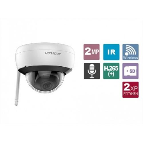 Κάμερα Dome 2.8mm ασύρματη Easy IP 2MP IP66 DS-2CD2121G1-IDW1 Hikvision
