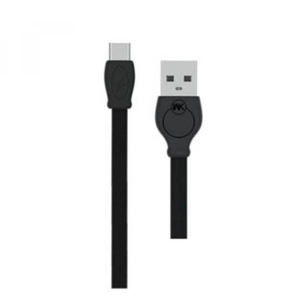 Καλώδιο φόρτισης & συχρονισμού USB-A -> micro 1m full speed μαύρο WDC-023 WK